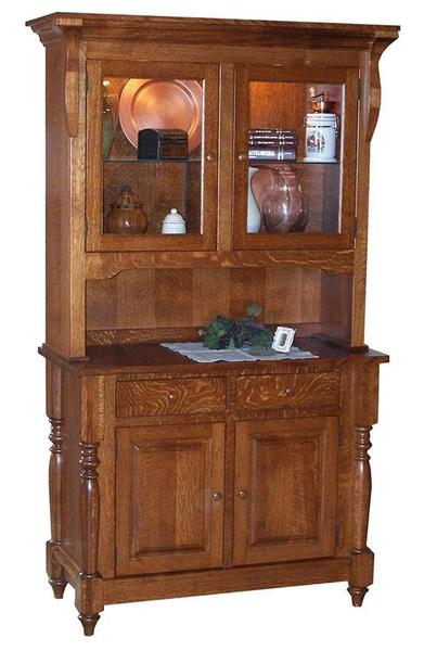 Amish Harvest Hutch with Two Doors