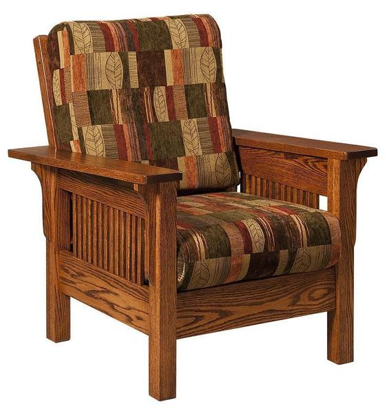 Amish Leah Mission Lounge Chair