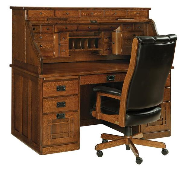 Amish Mission Deluxe Roll Top Desk
