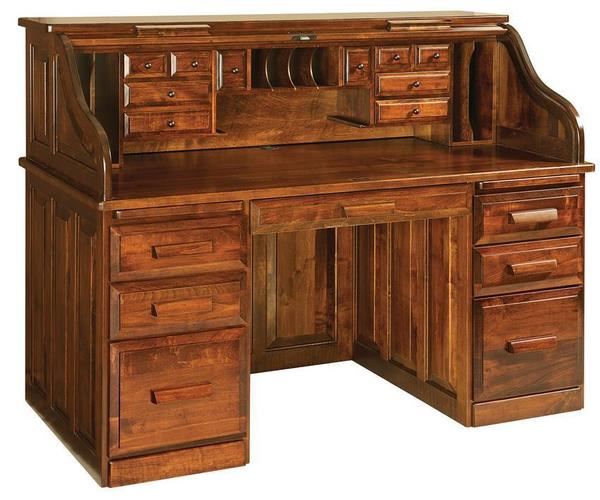 Amish Classic Rolltop Desk with Optional Hutch