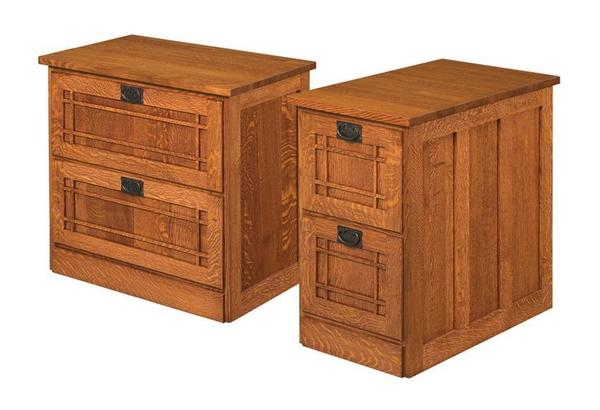 Amish Mission File Cabinet with Two Drawers