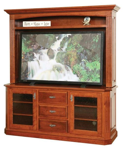 Amish Buckingham Plasma TV Stand with Optional Hutch Top