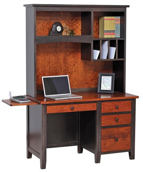 Amish Manhattan Workstation Desk with Optional Hutch Top