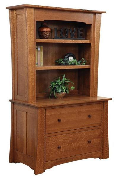 Amish Jamestown Lateral File with Optional Hutch Top