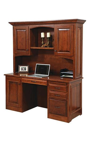 Amish Liberty Classic Credenza Desk with Optional Hutch Top