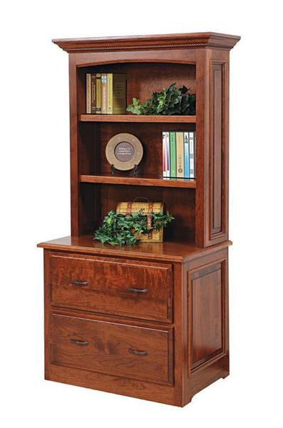 Amish Liberty Classic Lateral File with Optional Hutch Top
