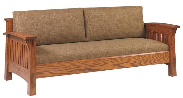 Amish Country Sofa with Mission Slats or Shaker Panels