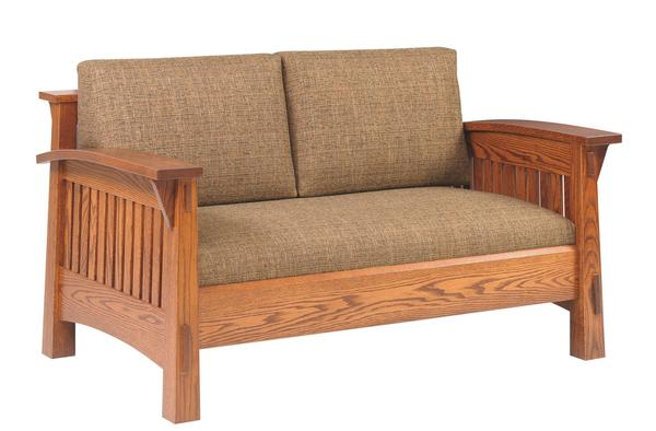 Amish Country Love Seat with Mission Slats or Shaker Panels