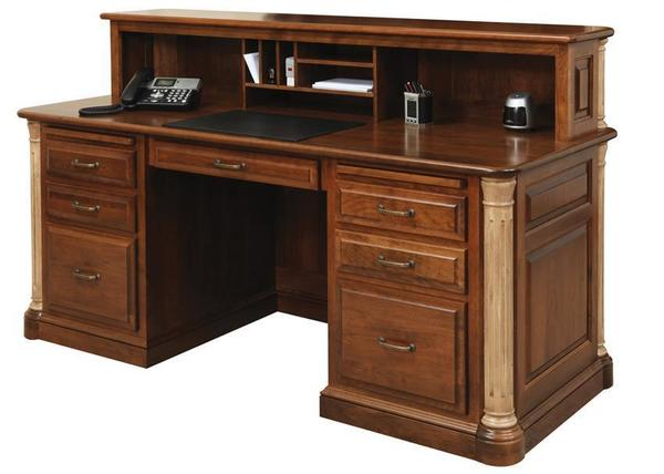 Amish Jefferson Transitional Reception Desk