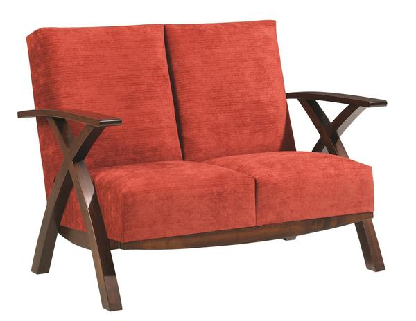 Amish Bristol Cross Loveseat