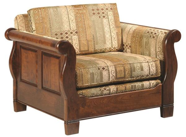 Amish Versailles Lounge Chair