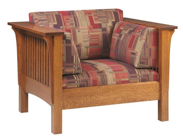 Amish Mission Spindle Lounge Chair