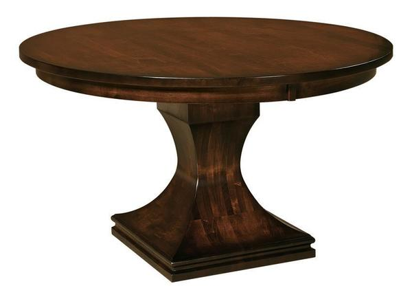 Amish Long Beach Single Pedestal Dining Table