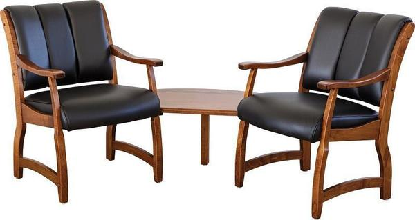 Amish Midland Table and Chairs Reception Set