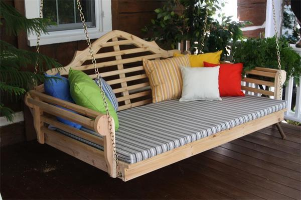 Amish Cedar Wood Marlboro Swing Bed