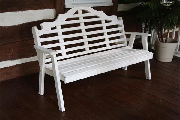 Amish Pine Wood Marlboro Garden Bench