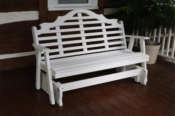 Amish Pine Wood Marlboro Glider Bench