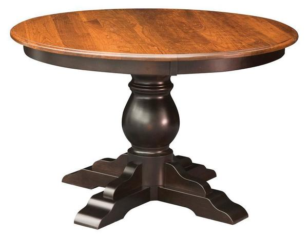 Amish Albany Single Pedestal Dining Table