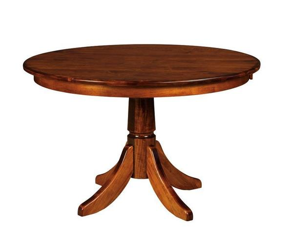 Amish Aurora Single Pedestal Dining Table