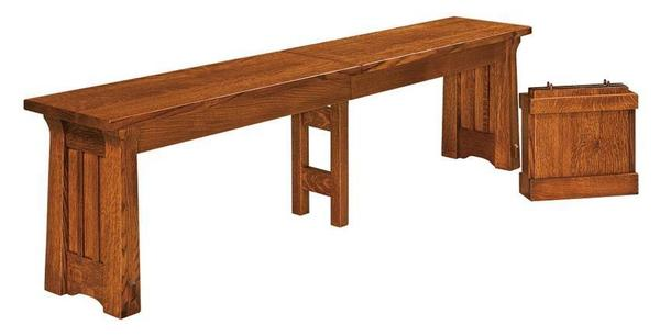 Amish Beaumont Mission Extension Bench