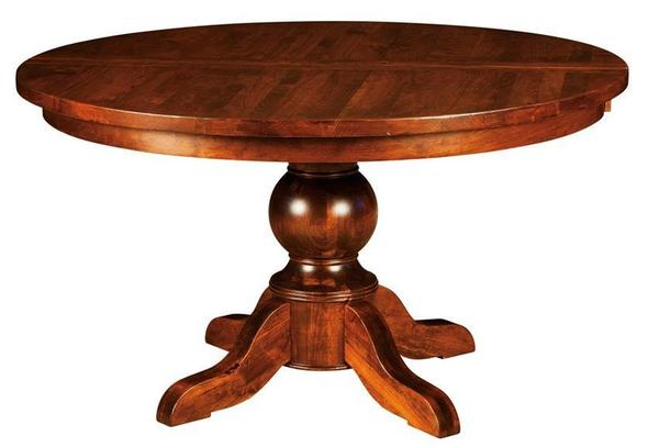 Amish Greensboro Plank Top Pedestal Table