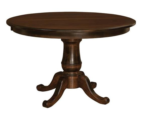 Amish Oakland Single Pedestal Table