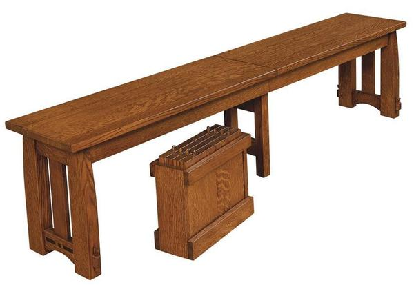 Amish Colebrook Mission Bench with Extensions