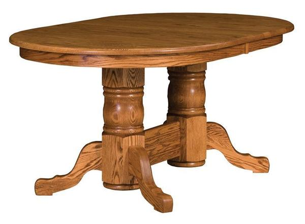 Amish San Antonio Double Pedestal Table
