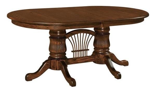Amish Gilbert Double Pedestal Table