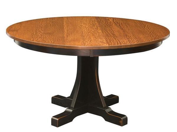Amish Cumberland Mission Single Pedestal Table