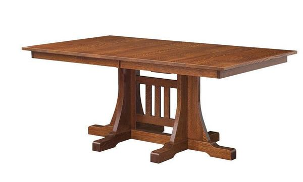 Amish Cumberland Mission Double Pedestal Table