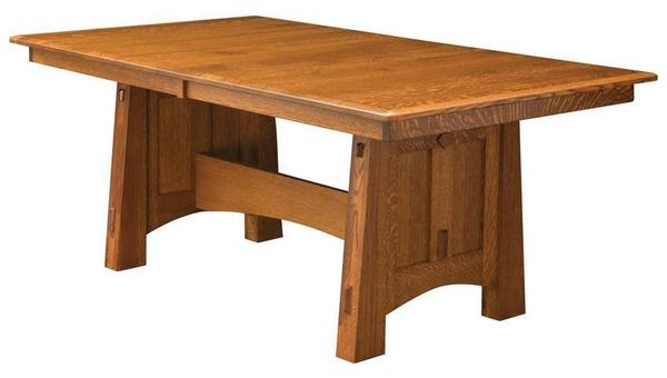 Amish McCoy Mission Trestle Table