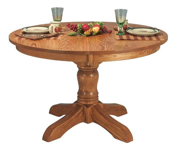 Amish Tempe Single Pedestal Table
