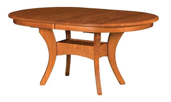 Amish Royal Oval Trestle Table