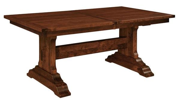Amish St. Lucie Plank Top Trestle Dining Table