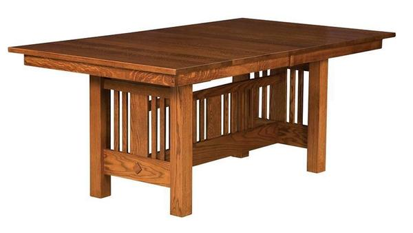 Amish Sheppards Mission Trestle Table