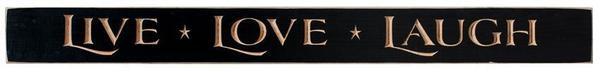 Rustic Wood Sign Live, Love, Laugh