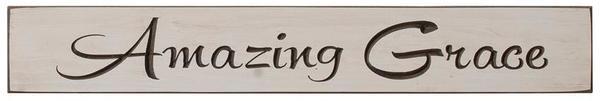 "Amazing Grace 24"" Inspirational Wall Sign"