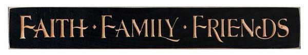Inspirational Print - Faith Family Friends