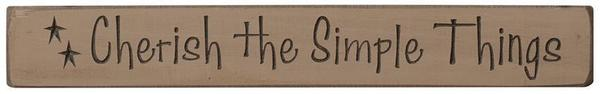 Primitive Cherish The Simple Things Shelf Setter
