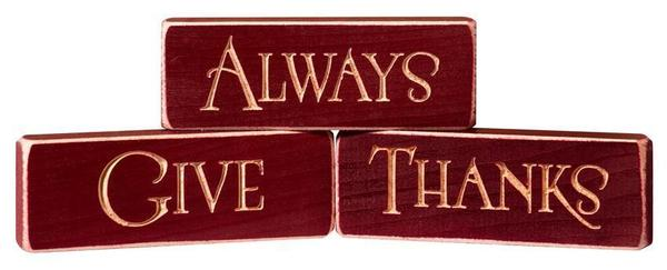 American Made Always Give Thanks Signs