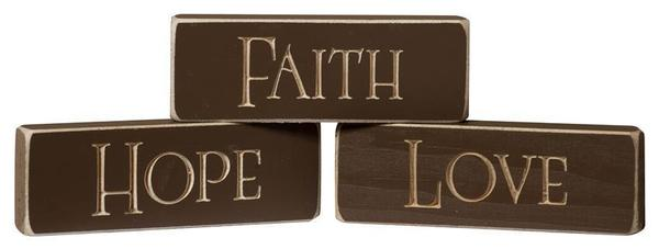 Faith, Hope and Love Sign for Home