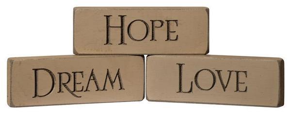 American Made Hope • Dream • Love Inspirational Print