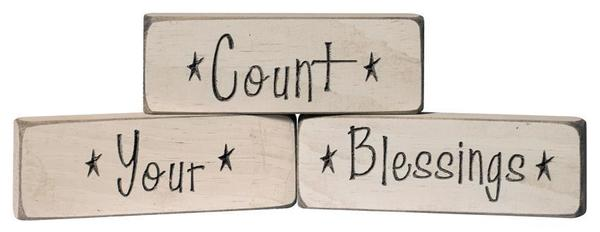 Count Your Blessings Sign - Made in the USA