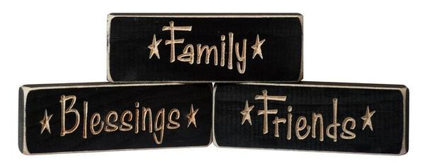 American Made Family • Blessings • Friends Inspirational Print