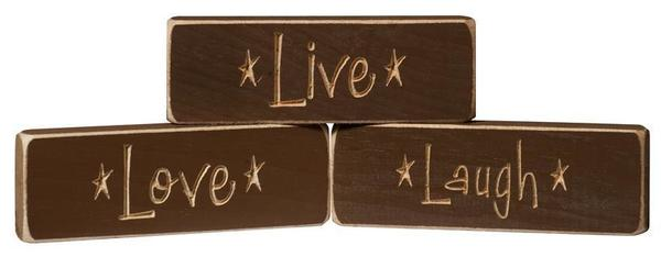 American Made Live • Love • Laugh Inspirational Print