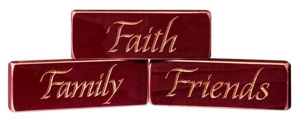 American Made Faith • Family • Friends Inspirational Print