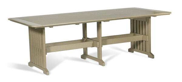 "Amish Outdoor Poly 96"" Mission Dining Table"