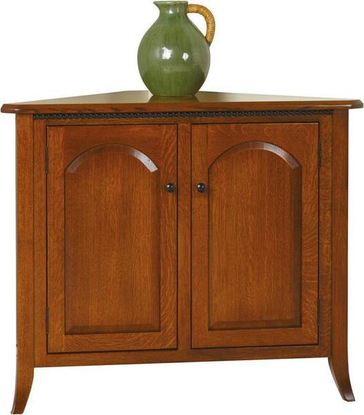 Amish Bunker Hill Corner Buffet without Drawers