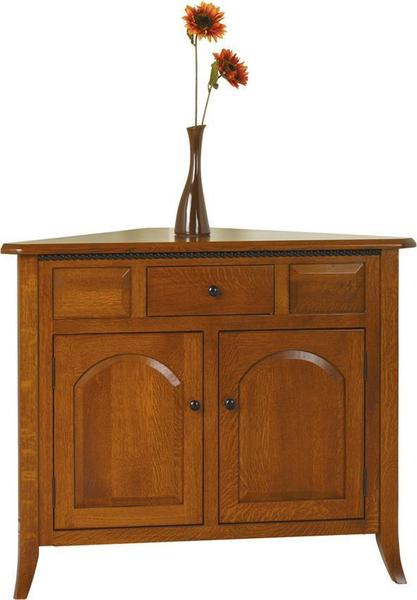 Amish Bunker Hill Corner Buffet with One Drawer